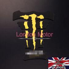 Etiqueta engomada de la almohadilla de tanque de combustible de Garra Amarilla Protector Moto Honda Yamaha Suzuka