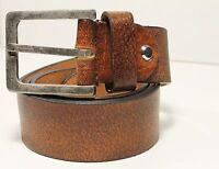Brauntön Größe von 90 bis 115 H-786-8 Vollleder Gürtel Echt Ledergürtel Herren