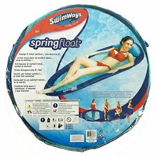 Swimways Spring Float Original Blue/Aqua Swimming Pool Lilo Summer Holiday