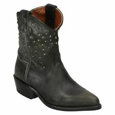 Leather Pull On Cowboy, Western Shoes for Women