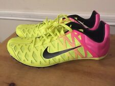 New Nike Zoom Maxcat 4 Track and Field Shoes 549150-999 Size 11 Volt/Pink/Black