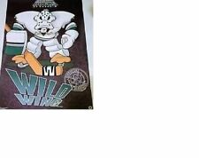 RARE NOS MINT No Pin Holes 1994 Anaheim Mighty Ducks Wild Wing Hockey Poster