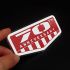 Red Aluminum 70th Anniversary Badge Decal Sticker Racing Trunk For Jeep Cherokee