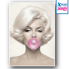 A3 A4 Marylin Monroe Pink Bubble Gum Actress Wall Art Large Poster Print Picture