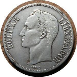 elf Venezuela Gram 25  5 Bolivares 1935 (P)  Silver  Philadelphia Mint  656