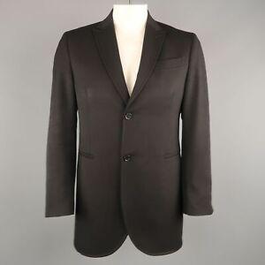 CoSTUME NATIONAL Size US 42 / IT 52 Black Wool Peak Lapel Coat