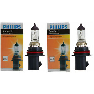 2 pc Philips High Low Beam Headlight Bulbs for Saturn Ion 2003-2007 af