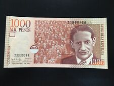 COLOMBIA 1000 PESOS (P450a) 2001 UNC Banknote Lot 131