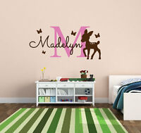 Personalized Monogram Name Decal With Deer Vinyl Wall Sticker For Nursery  Decor Part 55