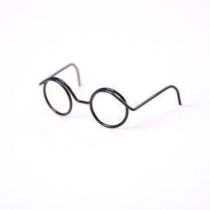 6X Round Frame Lensless Retro classic doll glasses for 1/6&qi