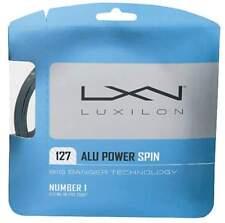 NEW Luxilon ALU POWER SPIN BIG BANGER 16 (1.27) Tennis String Set SILVER Pack