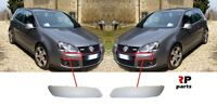 FOR VW GOLF V MK5 GTI 2003 - 2009 NEW FRONT BUMPER MOLDING TRIM PRIMED PAIR SET