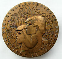 France Bronze Educational Medal by Baron 81mm 290g