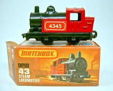 Matchbox SF Nr. 43C Steam Locomotive rot & schwarz top mit Box