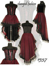 Gothic Corset Dress Long Maroon Plus Size Sale 1537 XXL