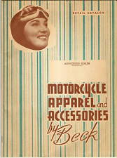 1951 Beck MOTORCYCLE APPAREL ACCESSORIES CATALOG H-D ++ PARTS HELMETS Vintage