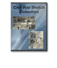 Civil War Sketch Collection 111 Important Events/Everyday Life Scenes CD - B279