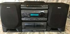 Sony HCD-G101 Stereo HiFi Component System 3 Disc Changer W 2 Speakers RARE