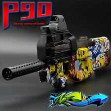 P90 Electric Auto Toy Gun Graffiti Edition Live CS Assault Snipe Weapon Water Bu