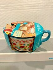 New listing The Pioneer Woman 4 Piece Ceramic Measuring Cup Set In Wildflower Whimsy Design