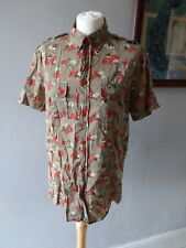MARC BY MARC JACOBS DESIGNER WOMENS FLATTERING TUNIC BLOUSE SHIRT TOP SIZE 14 16