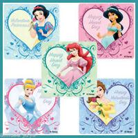 Disney Princess Stickers x 5 - Hearts - Belle, Cinderella, Ariel-Valentine's Day