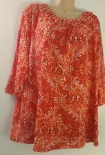 White Stag XL Red Peach Knit Top With Braided Neck