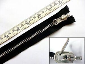 """Zip,Zipper,Reversible,Flip Over,Open End,Metal YKK,Black, 24,26,30"""", 60,66,76cms"""