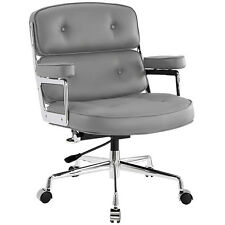 Office Executive Chair Management Time Modern Life Chair Leather Chairman GRAY