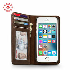 Twelve South BookBook for iPhone SE/5s, Vintage leather iPhone wallet case,Brown