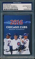 Addison Russell Signed 2016 Chicago Cubs Pocket Schedule PSA/DNA Auto #0572