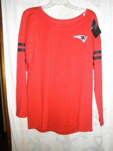 New England Patriots Nike Women's Tailgate Long Sleeve T-Shirt Size Large, NWT'S
