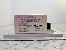TOWER ELECTRONICS 100-0690 POWER SUPPLY 120-240V 1.1/.7AMP 50/60HZ 12VDC/5A