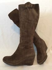 JB Martin Brown Knee High Suede Boots Size 39