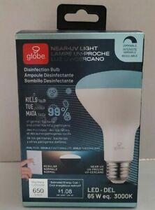 Globe Near-UV LED Light Disinfection Bulb White 65 Watt DIMMABLE 650 Lumens