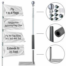 Tailgating Portable Flagpole and Base Tire Stand Holder