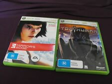 Late 2000's Xbox 360 games - Too Human - Mirror's Edge