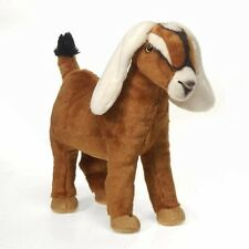 Fiesta Nubian Goat 12'' Inches My Farm Sheep Stuffed Lamb Animal Pet Pillows