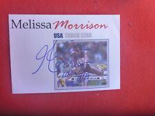 USA TRACK STAR MELISSA MORRISON   HAND SIGNED COVER