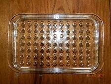 Vintage PYREX Glass Replacement Lid ~ MC-2-C ~ Inverted Dots Dimples Casserole