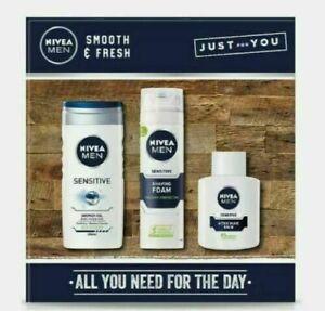 Nivea Men Smooth and Fresh Shower Gel Shaving Foam Aftershave Balm Gift set