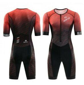 Monton Cycling Men's TT, CX Cyclocross, Crit Skinsuit w/ Pockets XS Very Stylish