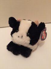 "Puffkins By Swibco Stuffed Plush Animal ""Meadow"" Cow NWT BDay 3/13/97"