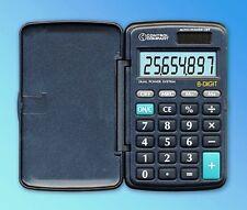 CONTROL COMPANY BIG DIGIT SOLAR POWERED POCKET CALCULATOR 6023 NEW