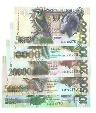 Sao Tome&Principe(Saint Thomas&Prince) set of 5 notes year 2013 last 3 dig. matc