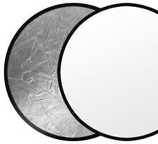 Faltreflektor Ø 80 cm silber/weiß