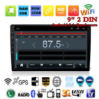 9 inch Android 8.1 Car Bluetooth Stereo Radio Double 2 DIN Player GPS Navi CAM