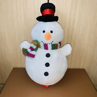 Snowman Plush Soft Toy Christmas Hat And Scarf