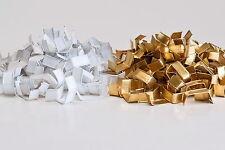 50 Verschlussclipse 33 x 8 mm gold f. Zellglasbeutel Bodenbeutel / Stk. = 0,02 €