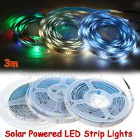 3M 90 LED 3/5m Solar Powered Strip Light Flexible Tape Outdoor Garden Fence